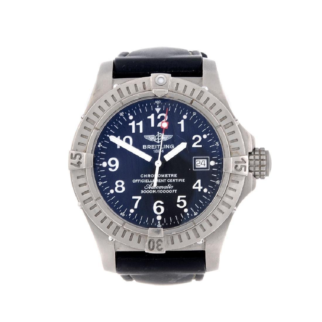 BREITLING - a gentleman's Avenger Seawolf wrist watch.