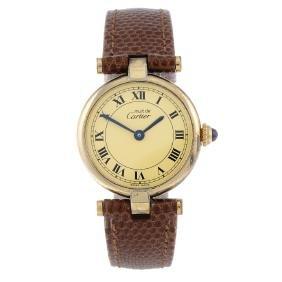 Cartier - A Must De Cartier Vendome Wrist Watch. Gold