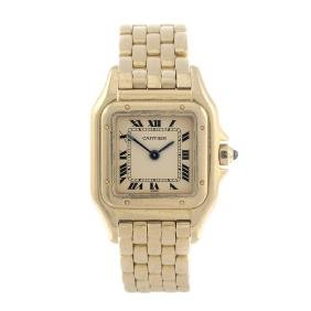 Cartier - A Panthere Bracelet Watch. 18ct Yellow Gold