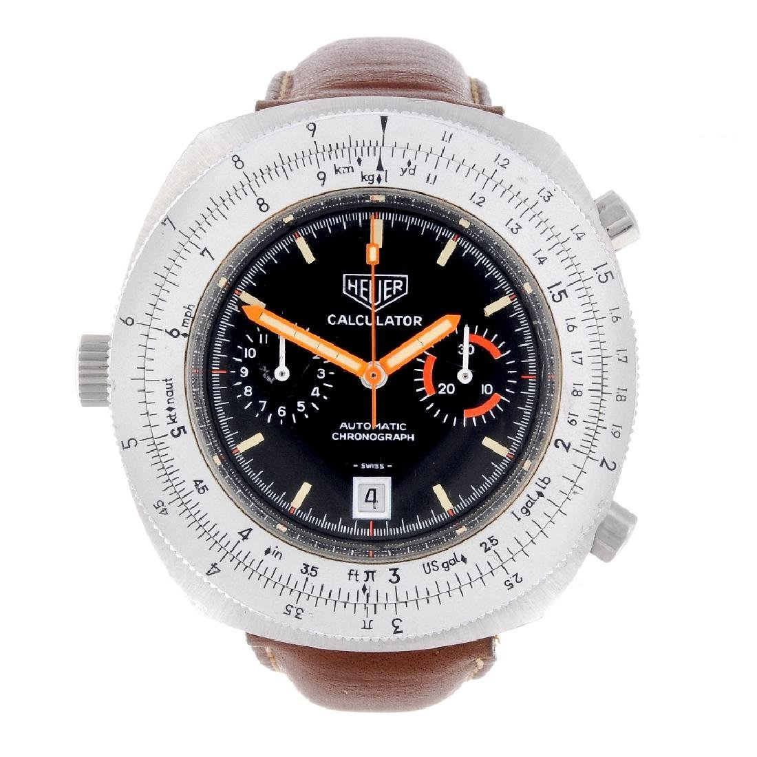 HEUER - a gentleman's Calculator chronograph wrist