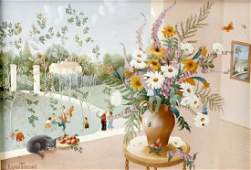 Raphael Toussaint 1937BouquetInterior scene with