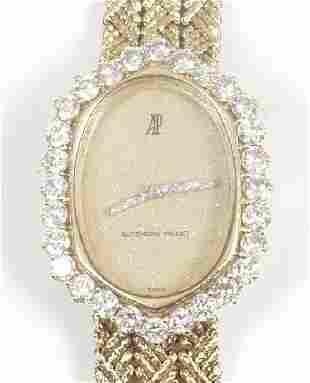 AUDEMARS PIGUET - lady's 18ct gold diam