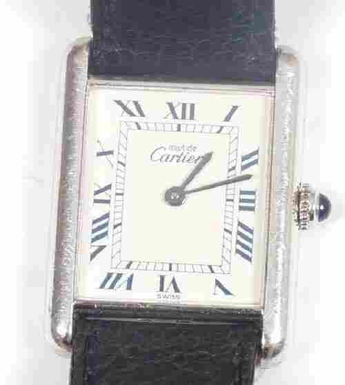 CARTIER - gentleman's silver cased Must