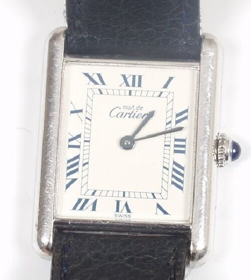 2014: CARTIER - gentleman's silver cased Must