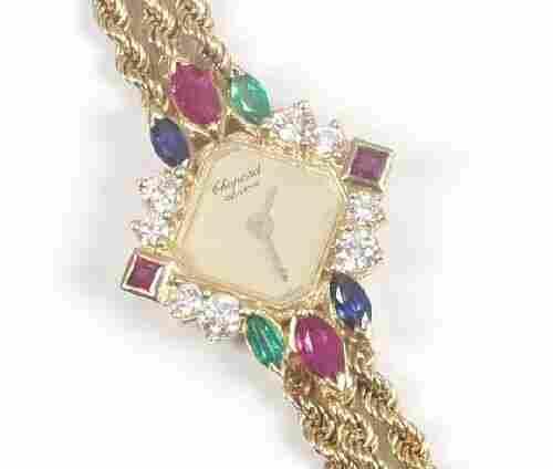 CHOPARD - lady's 18ct gold quartz brace