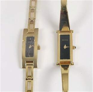 GUCCI - two lady's recent gold plated q