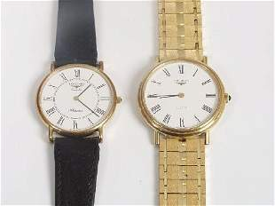 LONGINES - two gentleman's gold plated
