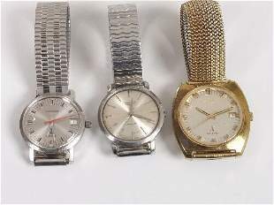 LONGINES - three gentleman's watches, c
