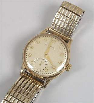 MOVADO - a gentleman's late 1950's 9ct
