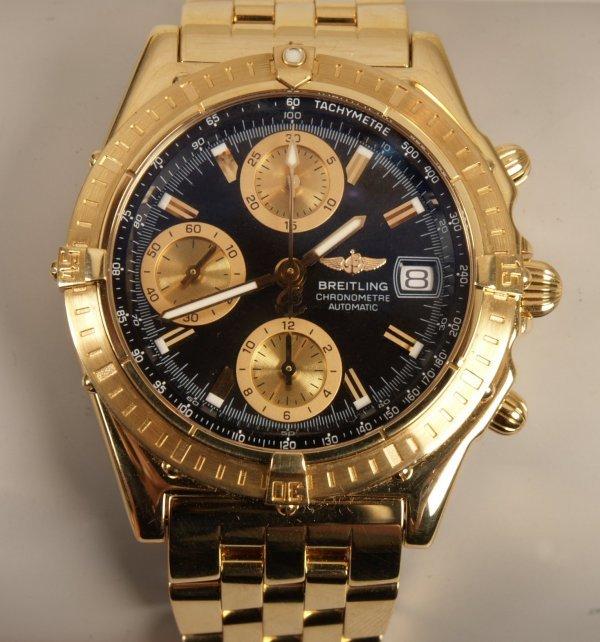 2012: BREITLING - a gentleman's 18ct gold Windrider Chr