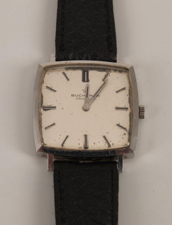 2015: BUCHERER - a gentleman's steel watch with a squar