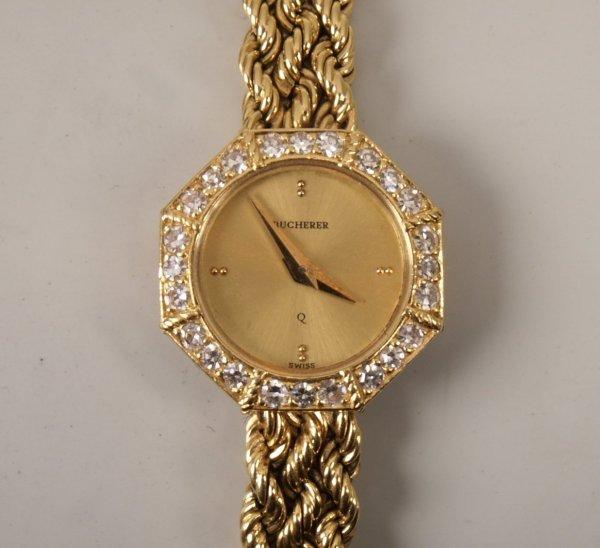 2016: BUCHERER - a ladies 18ct yellow gold quartz wrist