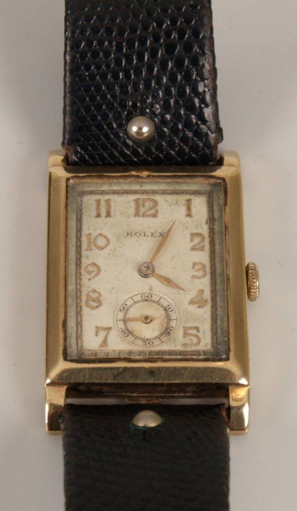 2155: ROLEX - a gentleman's 1930's manual wind 9ct gold