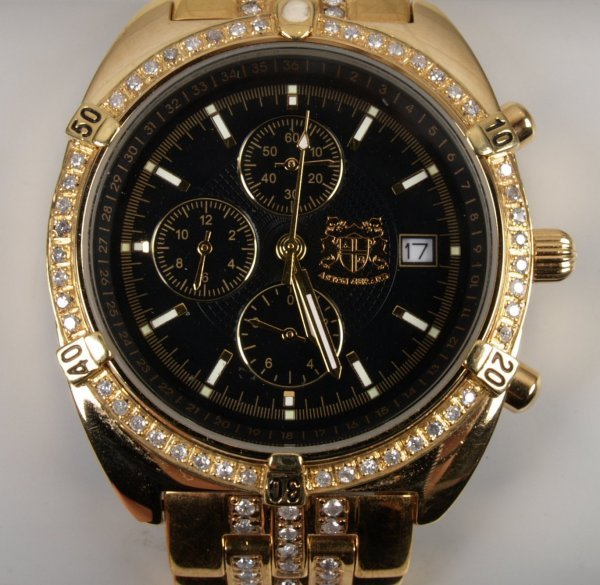 2212: ASTON GERARD - gentleman's gold plated bracelet w