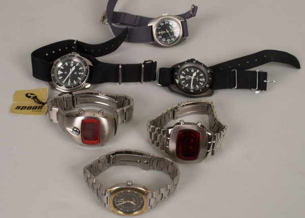 2243: Six gentleman's watches to include an Omega Seama