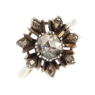 A diamond floral cluster ring The rosecut diamond
