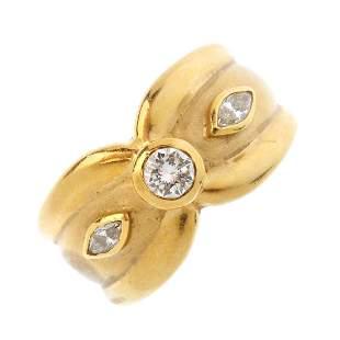 A diamond dress ring The brilliantcut diamond collet