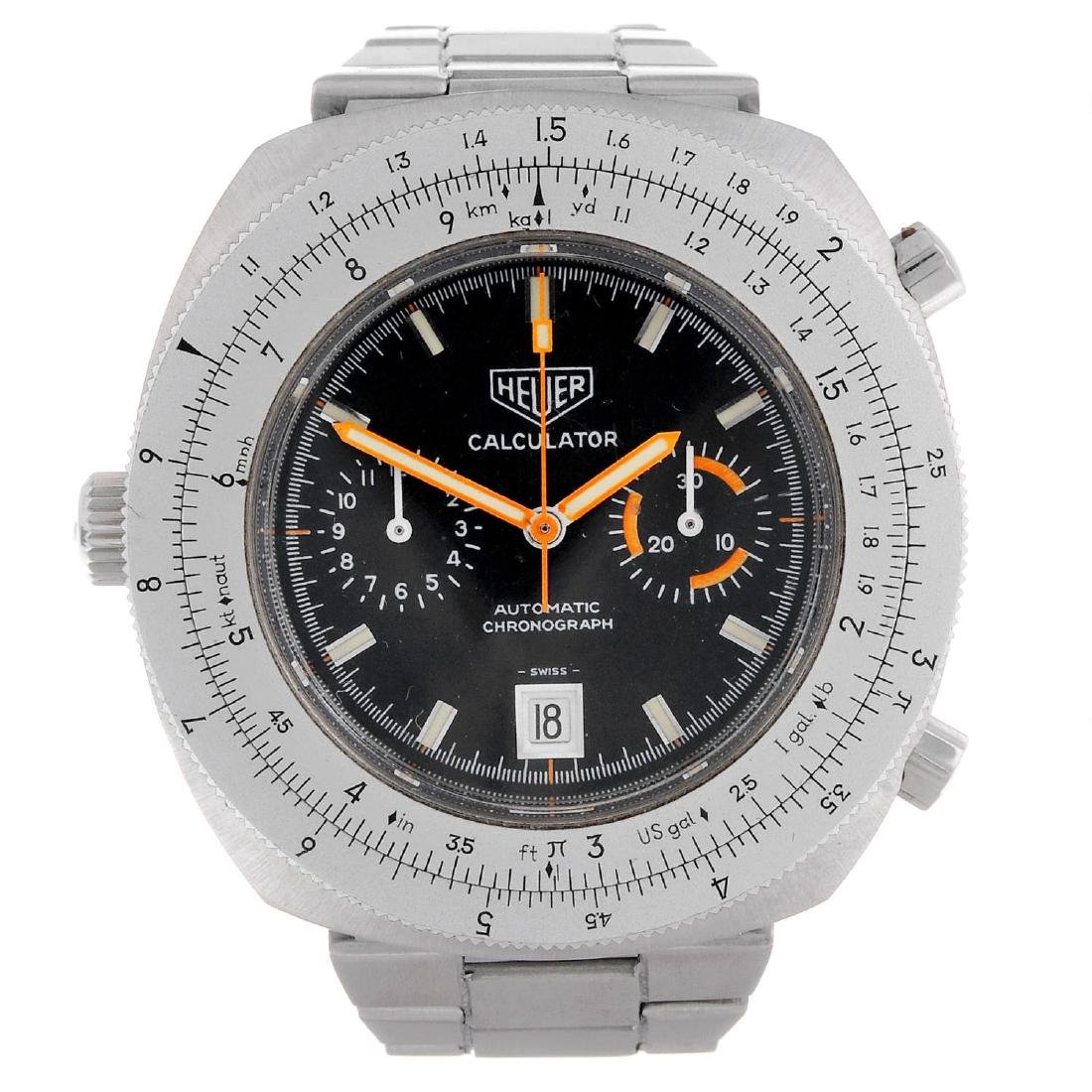 HEUER - a gentleman's Calculator chronograph bracelet