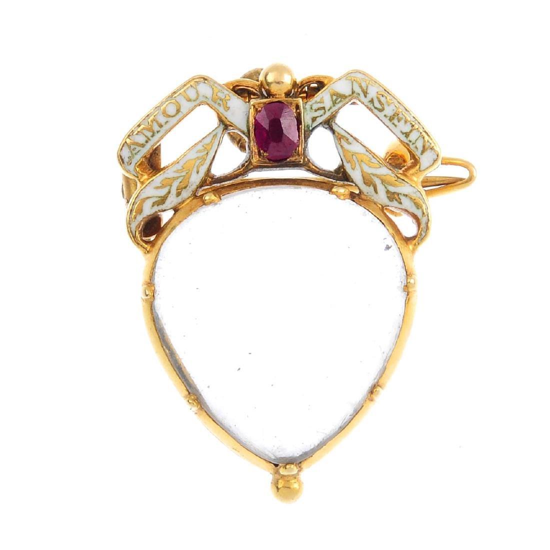 A late Georgian sentimental gold, enamel and gem-set