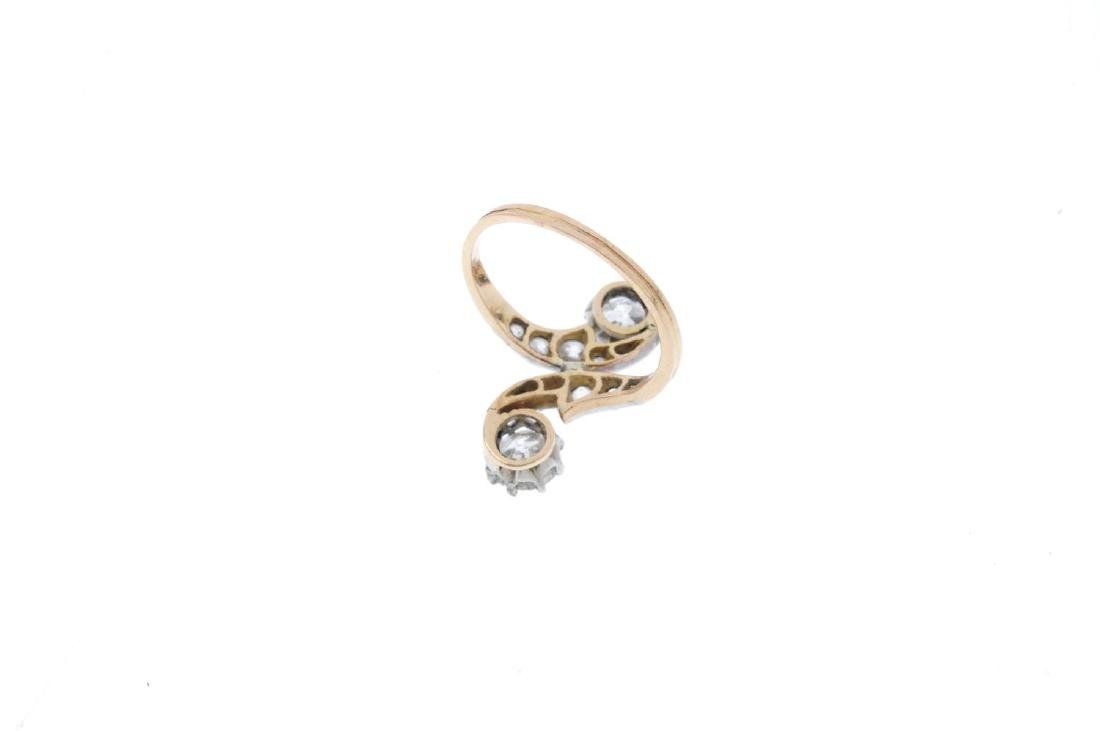 An early 20th century 18ct gold diamond ring. The - 2