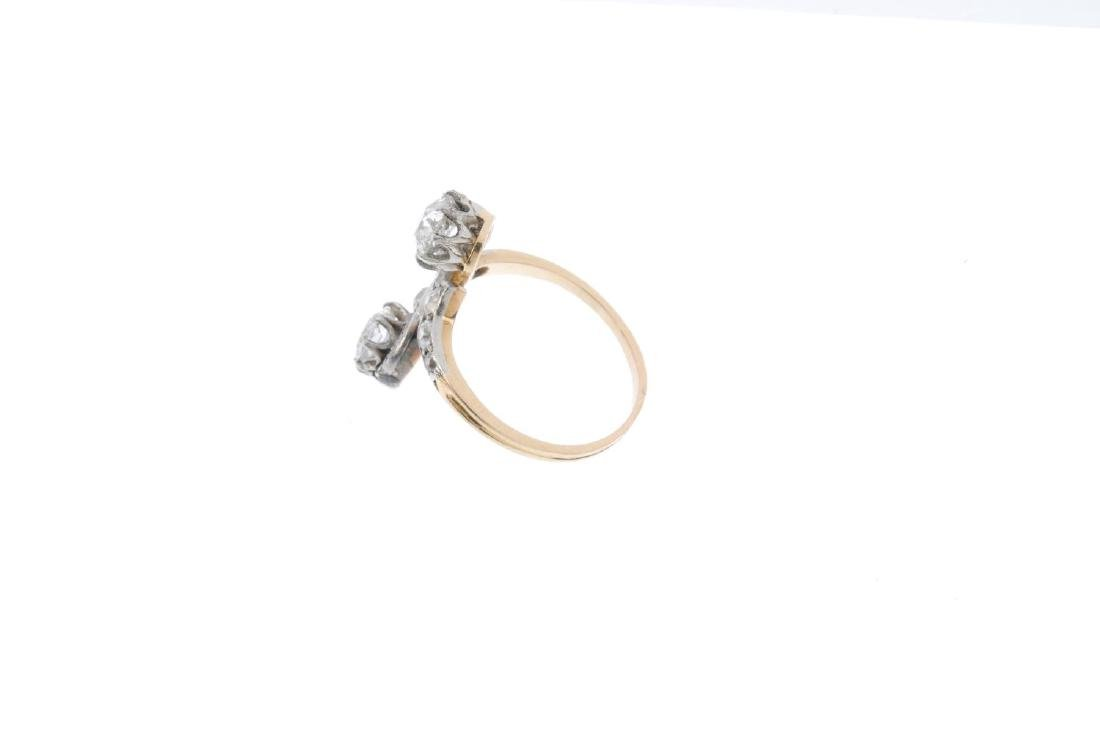 An early 20th century 18ct gold diamond ring. The - 3
