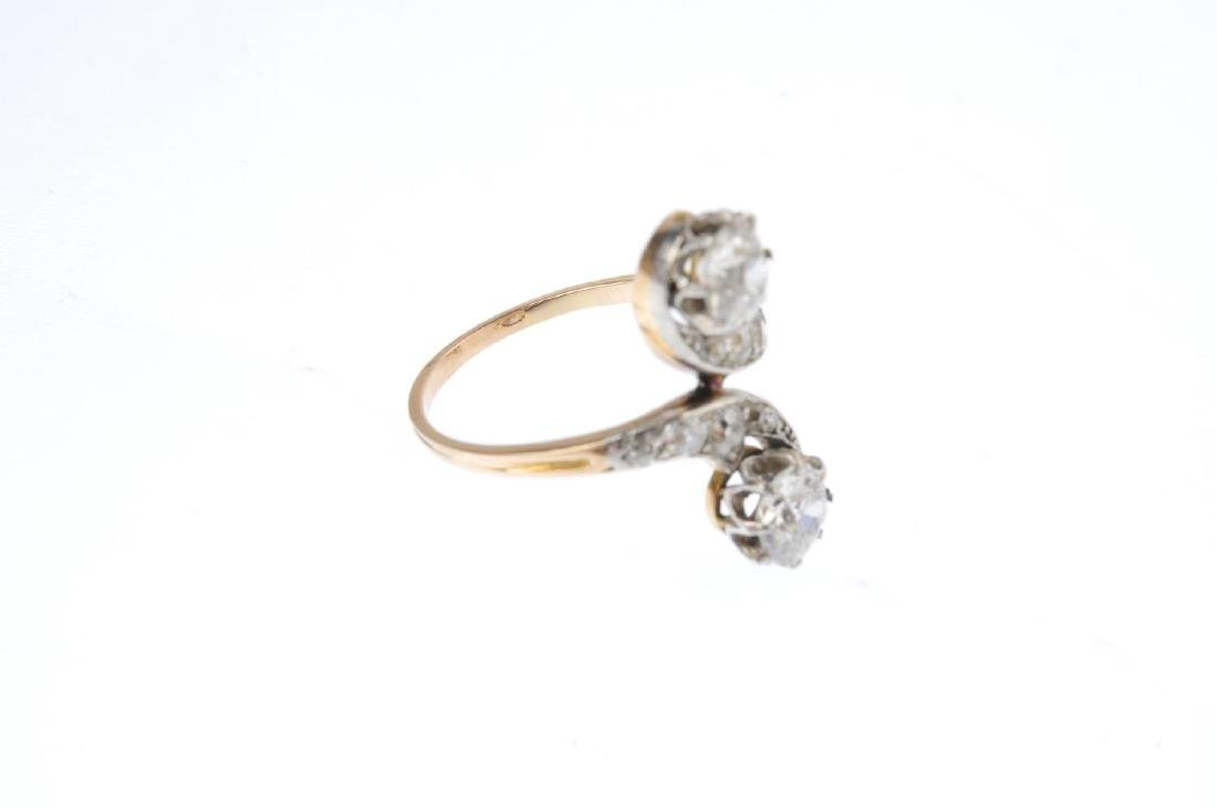 An early 20th century 18ct gold diamond ring. The - 4