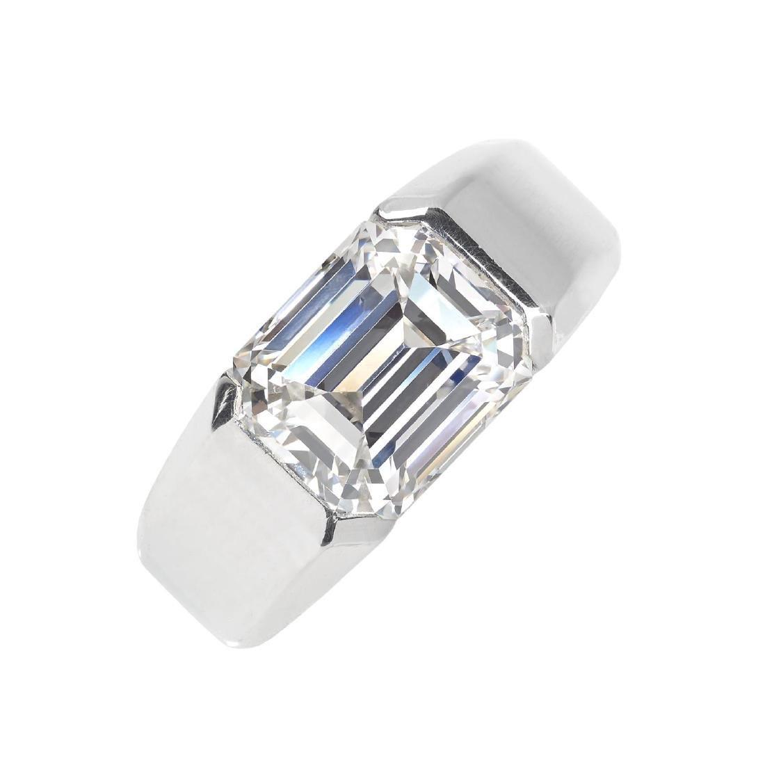CARTIER - a platinum diamond 'Lia' ring. The