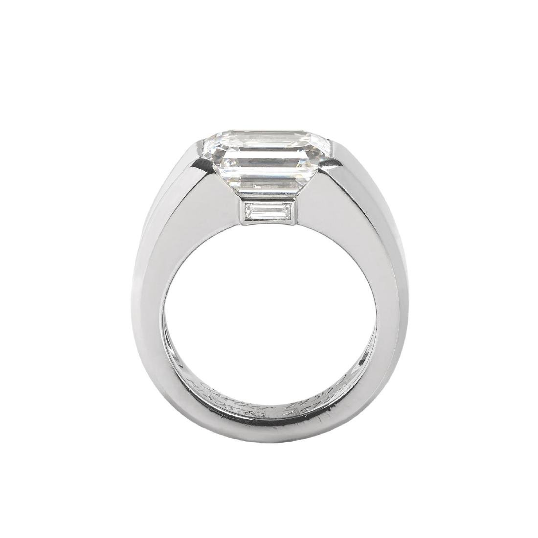 CARTIER - a platinum diamond 'Lia' ring. The - 2