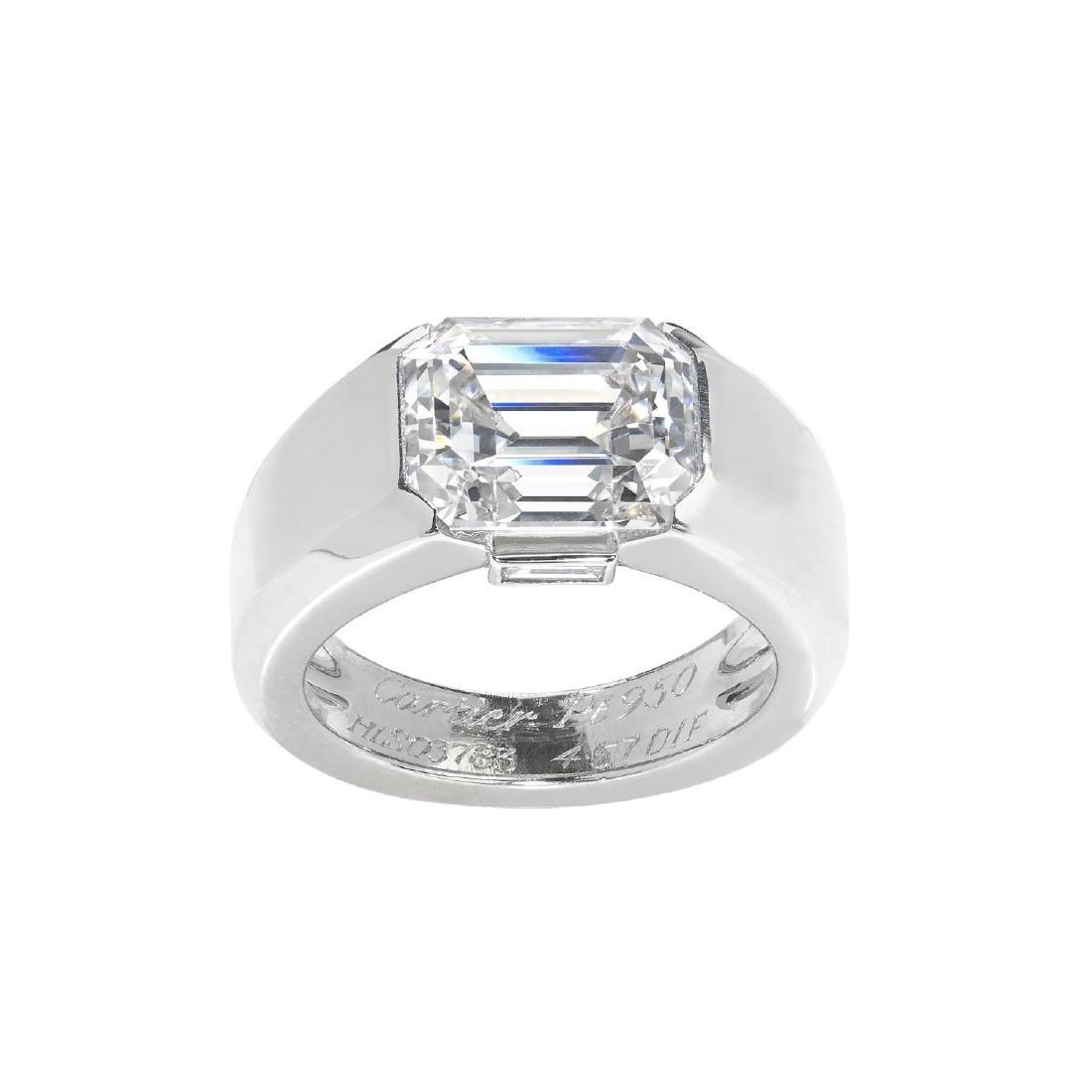 CARTIER - a platinum diamond 'Lia' ring. The - 3