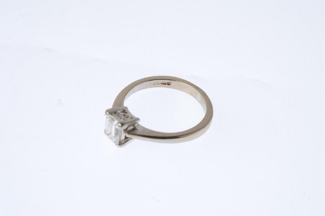 An 18ct gold diamond single-stone ring. The - 4