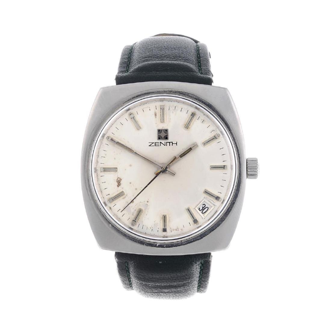 ZENITH - a gentleman's wrist watch. Stainless steel
