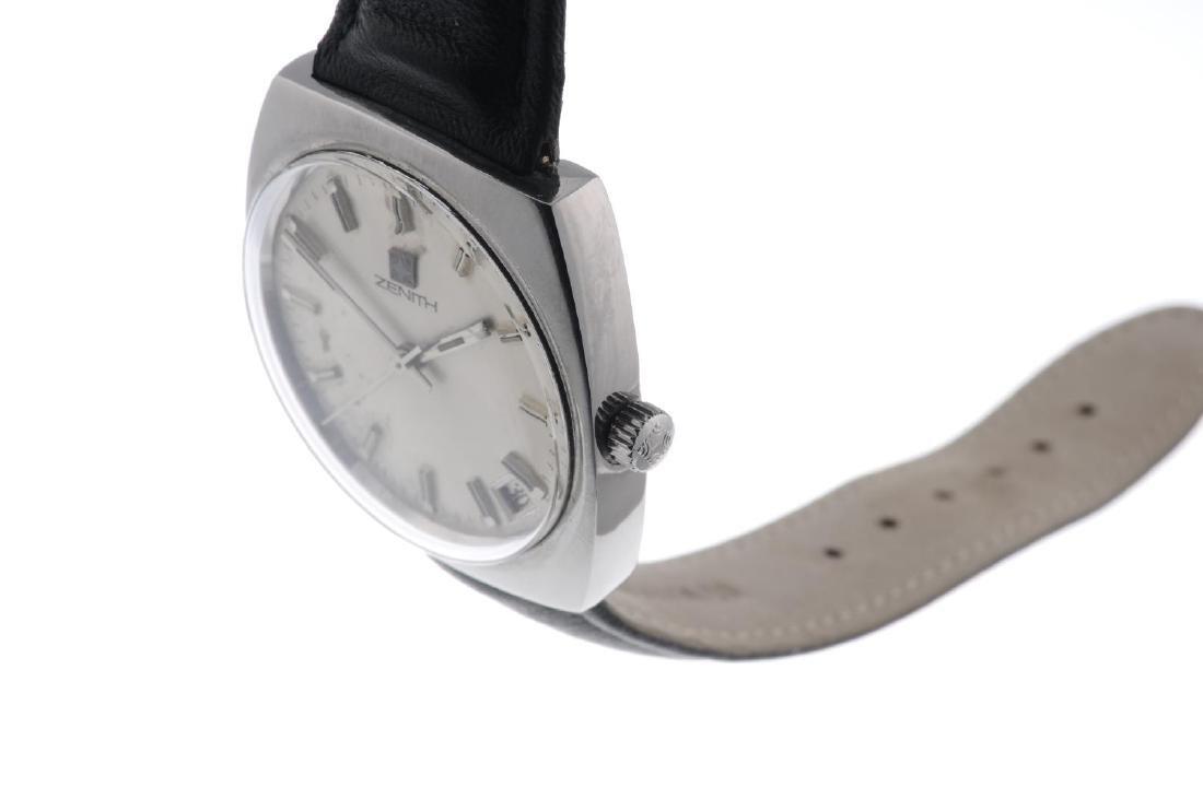 ZENITH - a gentleman's wrist watch. Stainless steel - 3