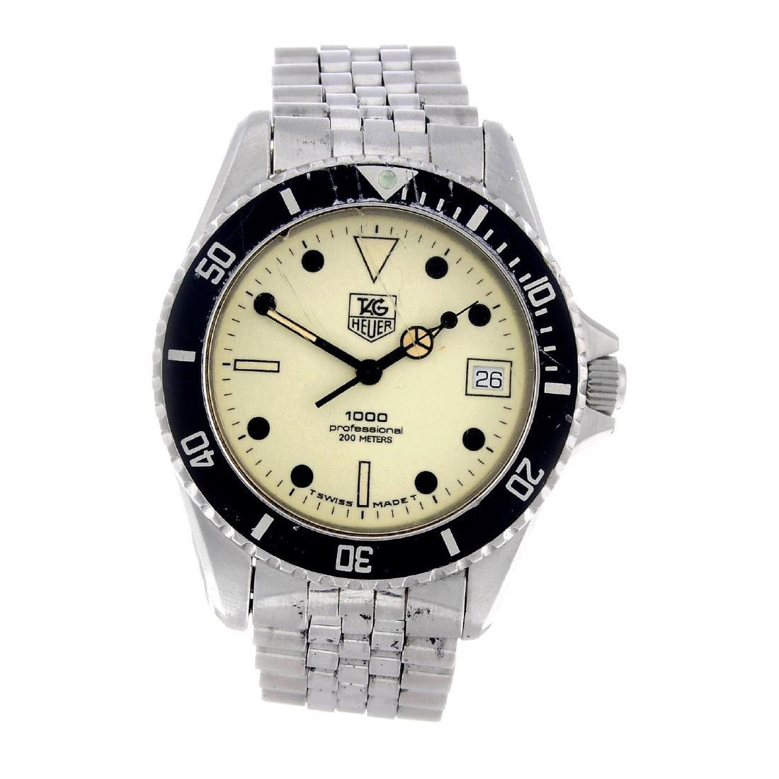 TAG HEUER - a gentleman's 1000 bracelet watch.
