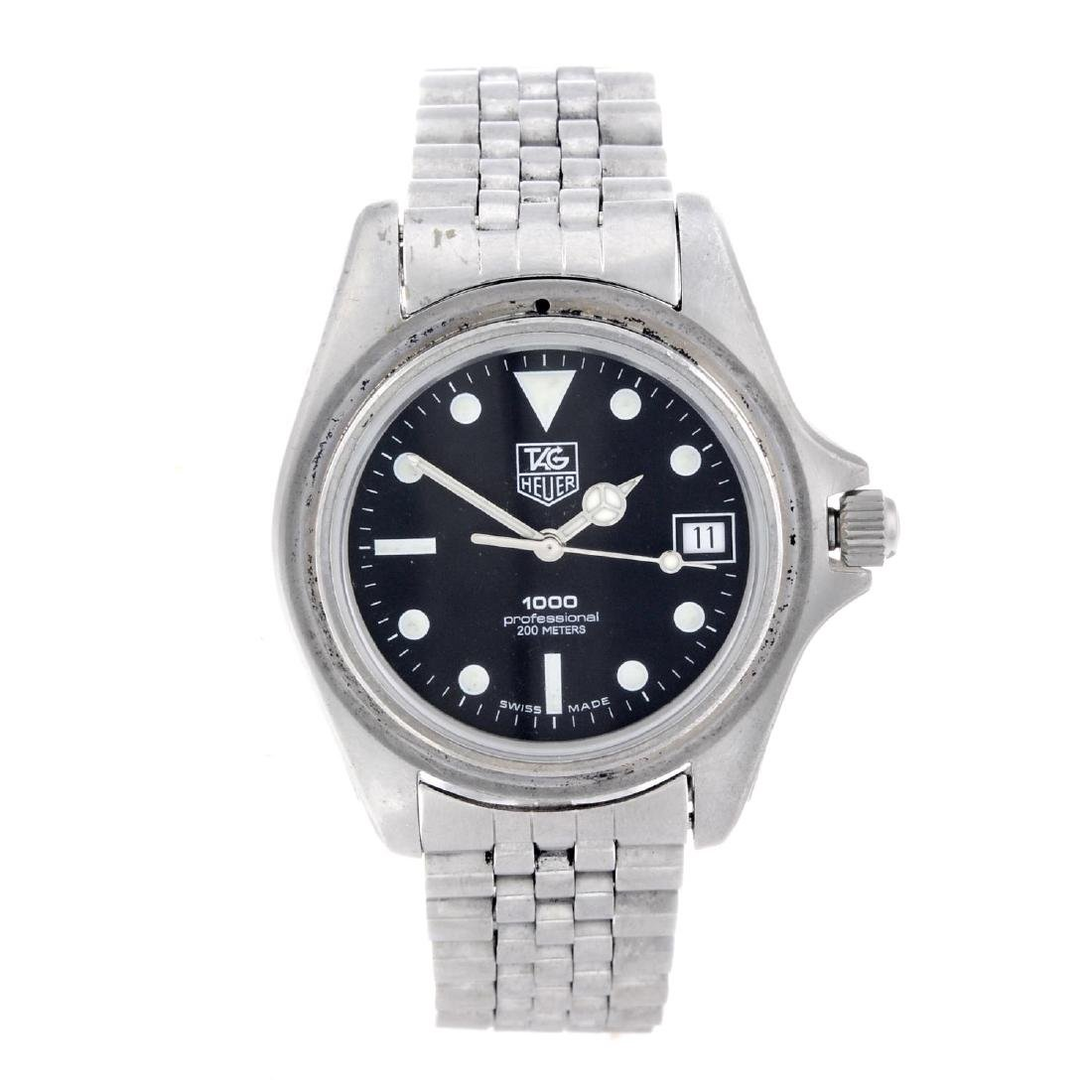 TAG HEUER - a gentleman's 1000 Series bracelet watch.