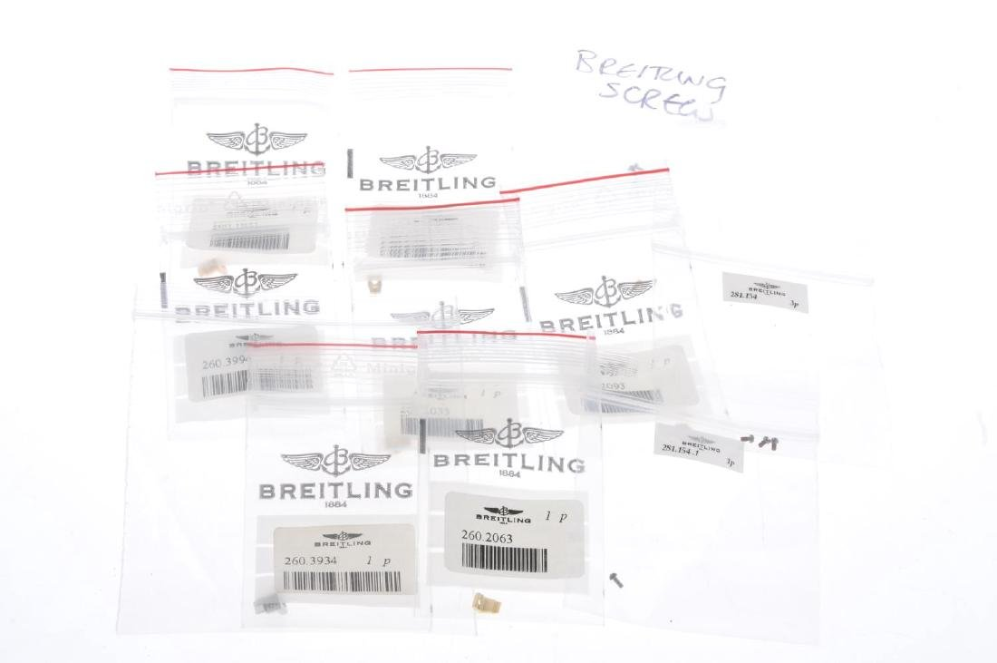 BREITLING - a group of assorted watch buckles, bracelet - 4