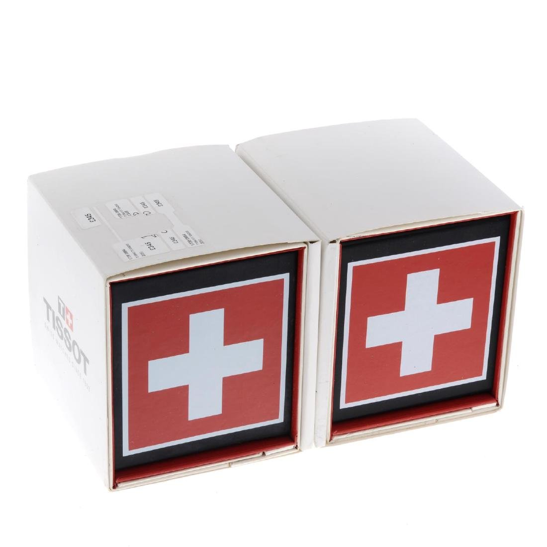 A large selection of various watch boxes, to include