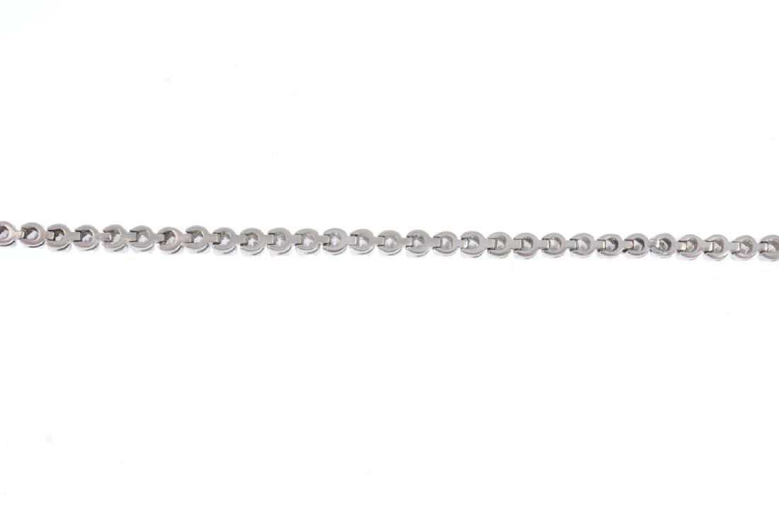 An 18ct gold diamond bracelet.  Designed as a series of - 2