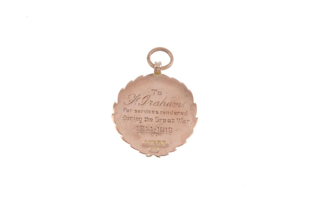 An early 20th century 9ct gold medallion. Hallmarks for - 2