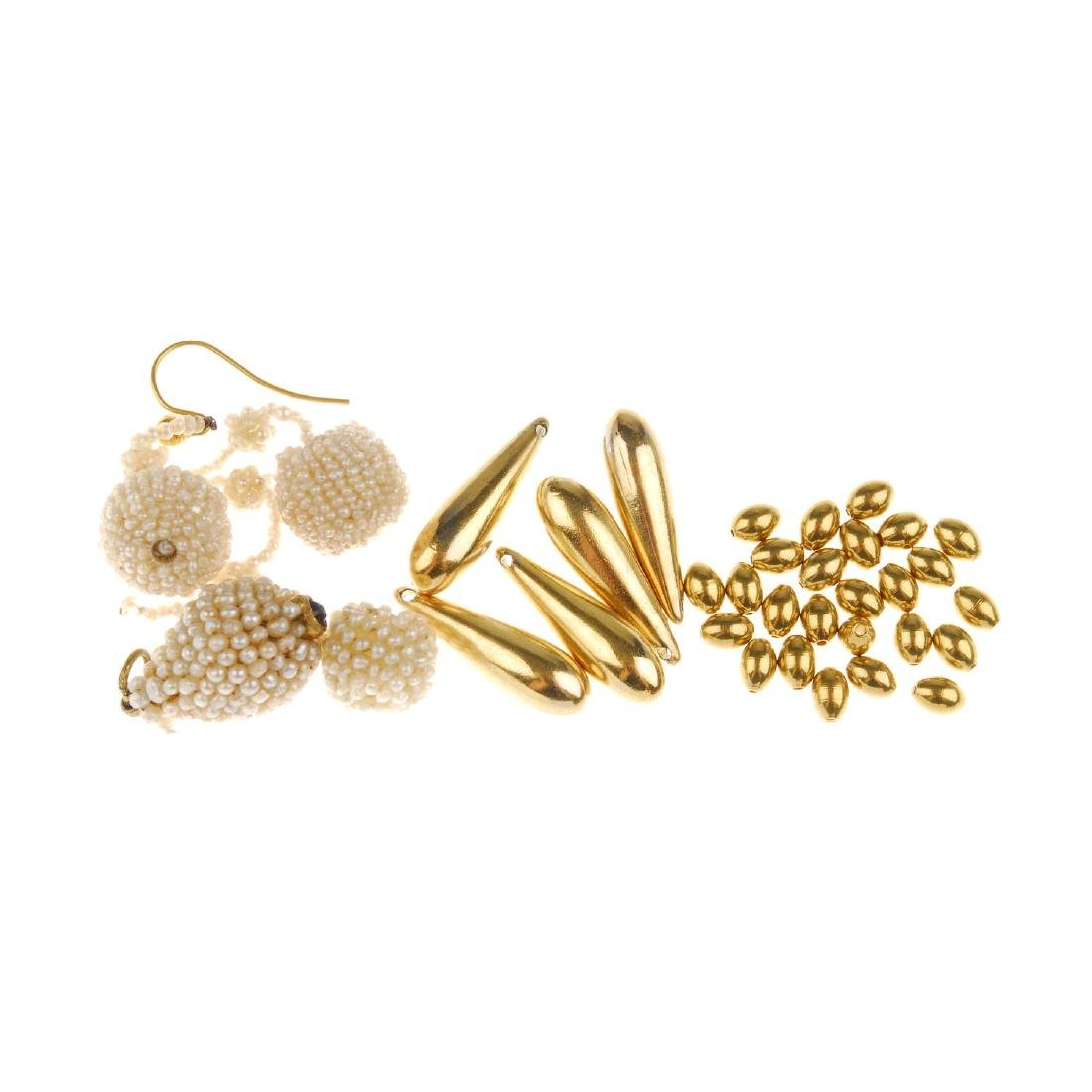 A selection of mainly jewellery components and parts.