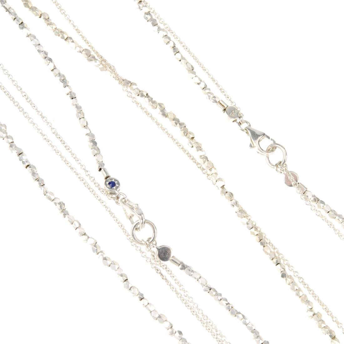 ASTLEY CLARKE - three two-row bracelets and two two-row