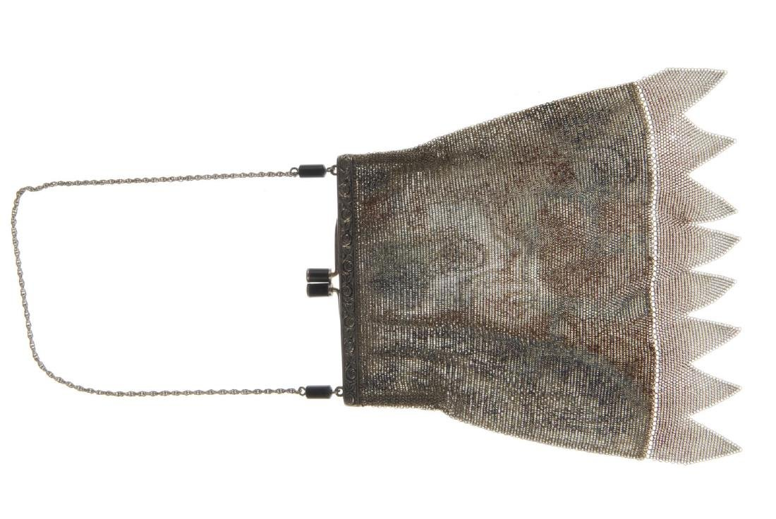 Two early 20th century mesh bags. The first with a - 3