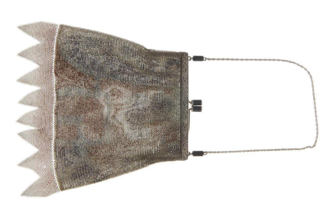 Two early 20th century mesh bags. The first with a - 4