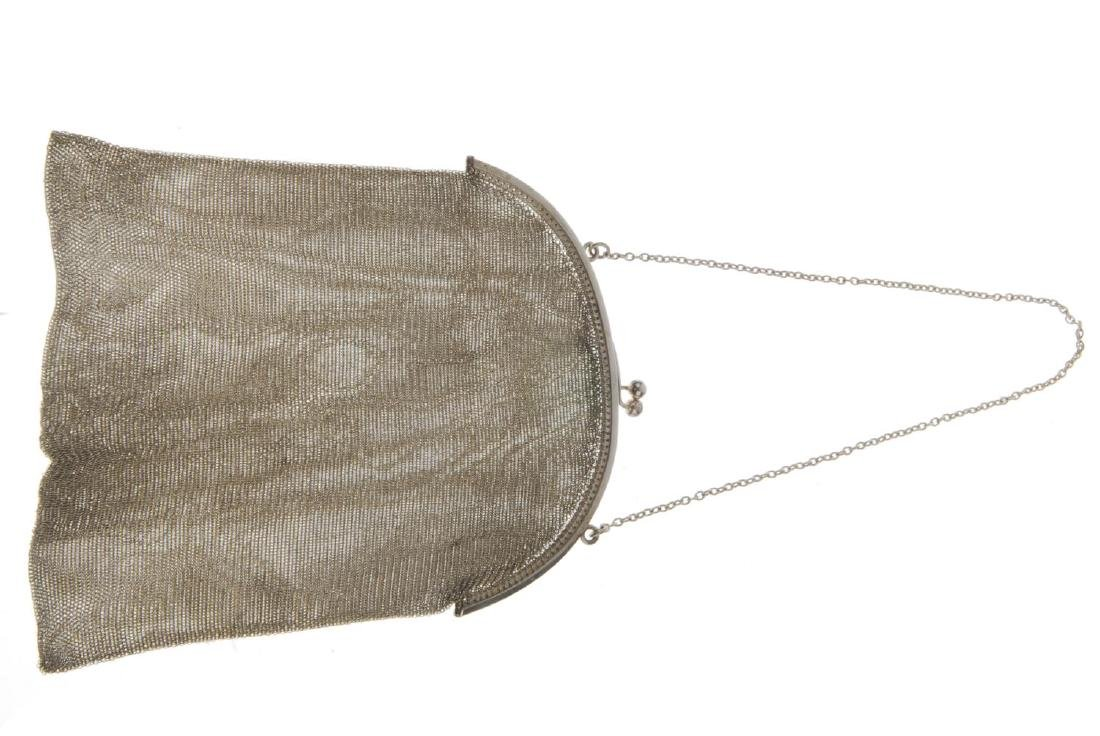 Two early 20th century mesh bags. The first with a - 5