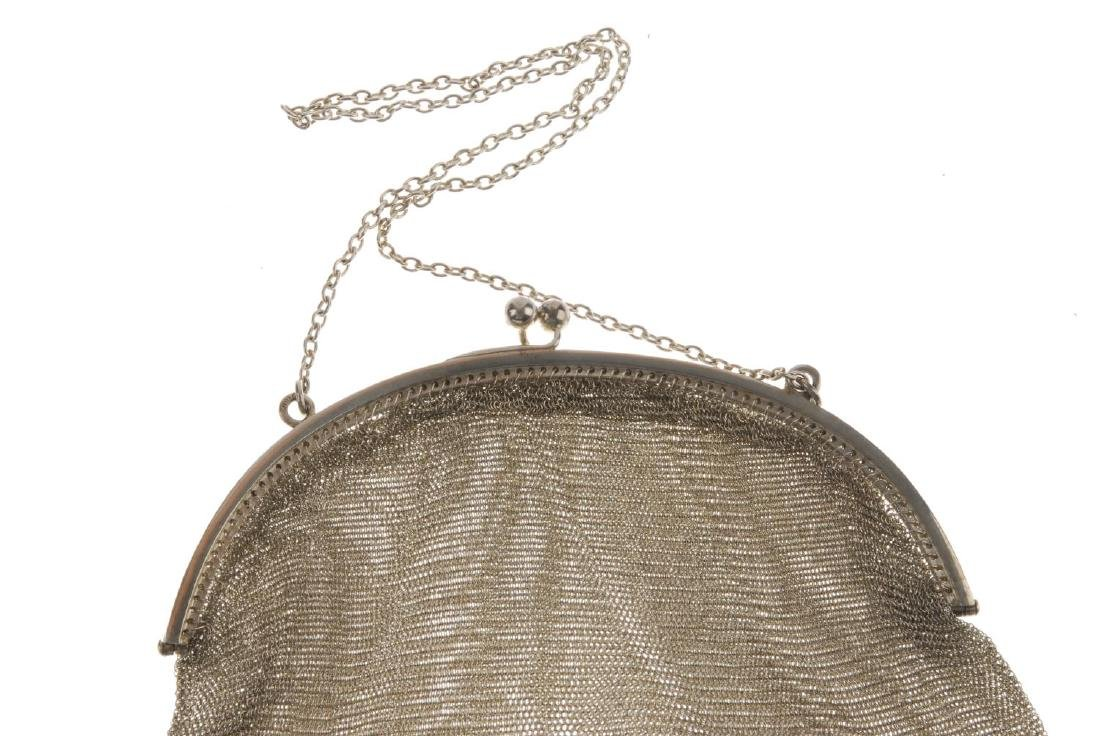 Two early 20th century mesh bags. The first with a - 7