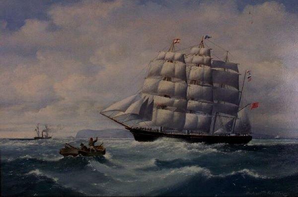 1002: MICHAEL MATTHEWS (British, 20th Century) Clipper