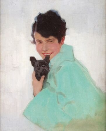1009: 20TH CENTURY BRITISH Portrait of a young woman we