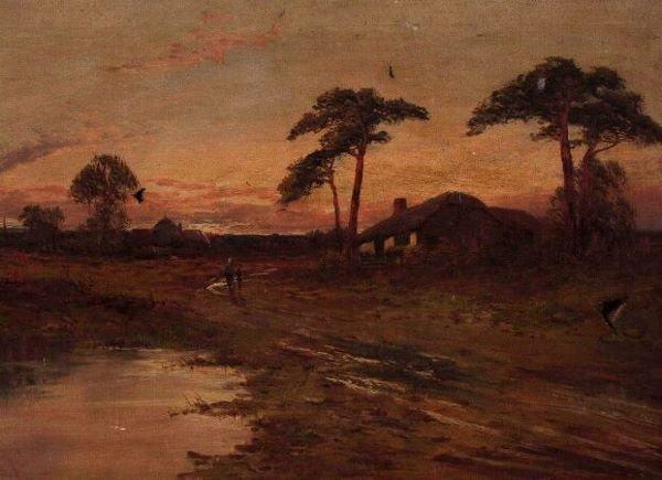 1012: JOEL OWEN (British, 20th Century) Rural landscape