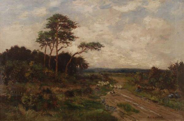 """1022: ARTHUR C. LANDOR (British, 19th Century) """"The Roa"""