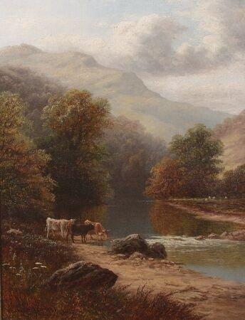 1093: WILLIAM MELLOR (British 1851-1931)  On the Derwen