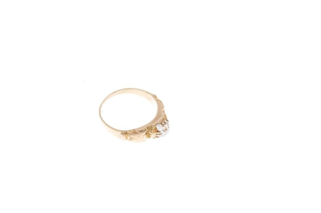 A diamond single-stone ring. The old-cut diamond, with - 4